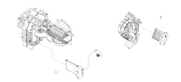 Элемент нагревательный печки салона для Tesla Model S\X