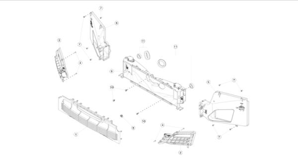 Воздуховод центрального радиатора REST NEW Tesla Model S