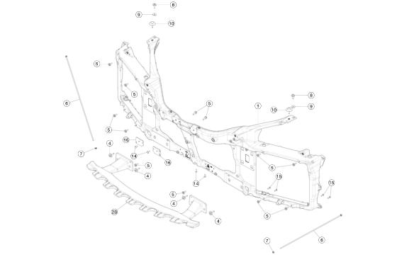 Болт регулировочный подкапотный (грибок) 6MM для Tesla Model S