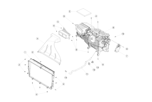 Воздухозаборник Хеппа фильтр Tesla S