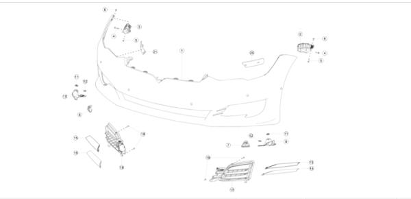 Направляющая крыла переднего левого (ракушка) REST NEW Tesla Model S