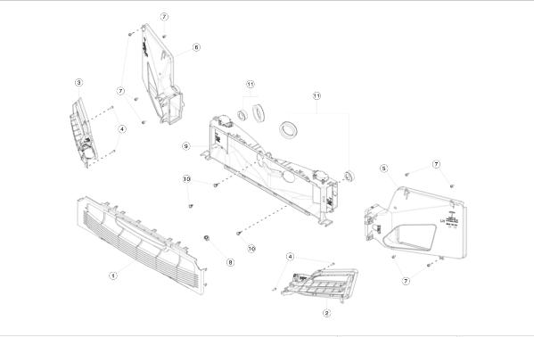 Решётка декоративная основного радиатора REST NEW Tesla Model S