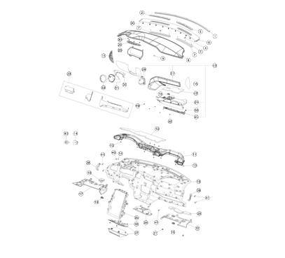 Панель торпеды (черная искуственная кожа) PUR/PUR BLK (MS_MSR)
