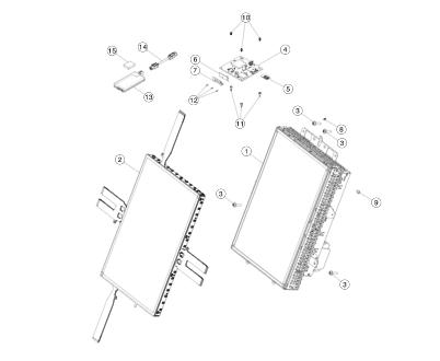 Главный блок управления (большой сенсорный экран MCU) для Tesla Model S/X