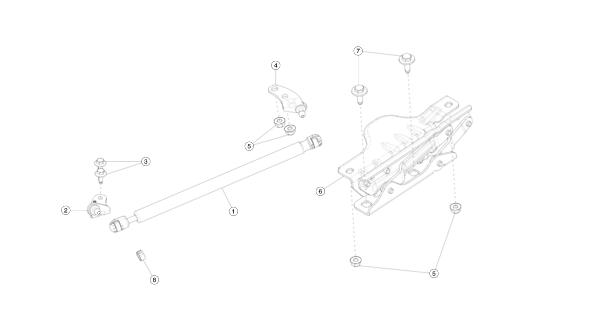 Петля крепления капота правая (NEW) Tesla Model S