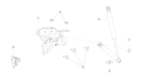 Петля крепления капота левая (NEW) Tesla Model X