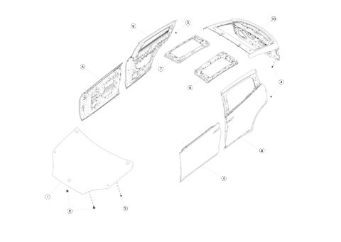 Капот (стекловолокно) для Tesla Model X
