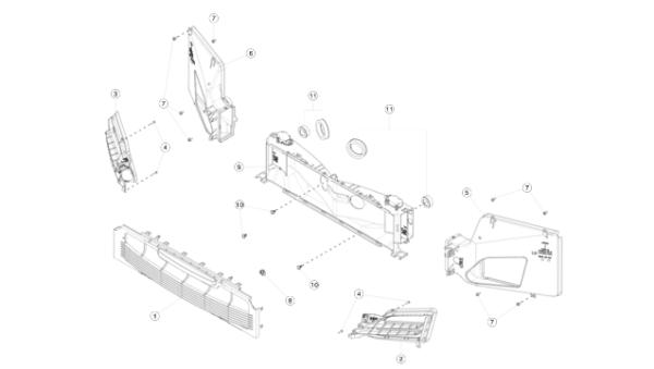 Диффузор левый радиатора кондиционера (NEW) Tesla Model S