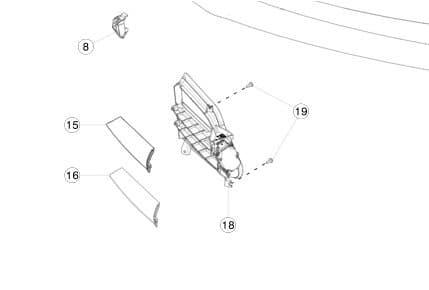 Накладка хромированная люверса нижняя правая REST (NEW) Tesla Model S