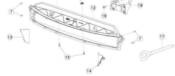 Заглушка отверстия буксировочного крюка в переднем бампере REST (NEW) Tesla Model S