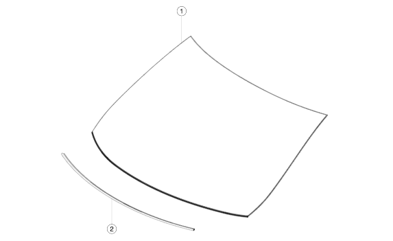 Лобовое стекло 2АП MS2 (MS WSHLD ASSY TRIPLE-CAM (HWA) LHD)