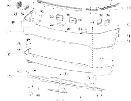 Накладка нижняя (структурная) заднего бампера Tesla MX (НОВАЯ)