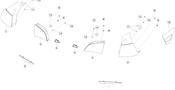 Фонарь крышки багажника (USA) правый Tesla M3 (НОВЫЙ)
