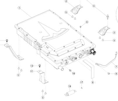 Чарджер GEN3 72A 3-Фазы EUR Tesla MS2, MX