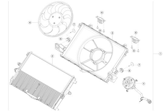 Радиатор Tesla Model Y (NEW)