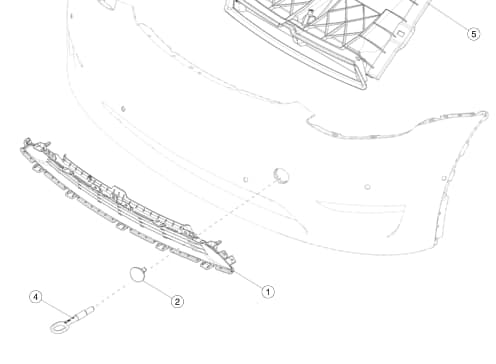 Решетка(Grille) переднего бампера декоративная Tesla Model Y (NEW)