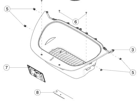 Клипса крепления подкапотного бокса Tesla Model Y (NEW)