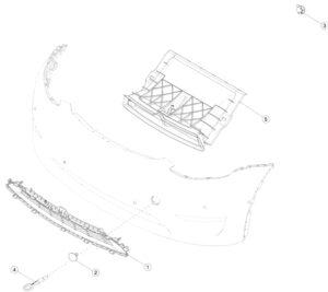 Корпус центрального люверса в сборе Tesla model Y