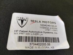 Подкрылок передний слева Tesla MX