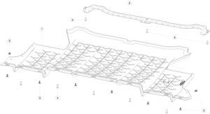 Крепежный кронштейн защиты заднего подрамника Tesla MX
