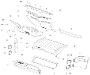 Приёмный воздуховод переднего бампера Tesla MX