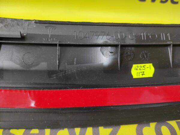 Накладка (молдинг) верхний облицовки заднего бампера Tesla MX