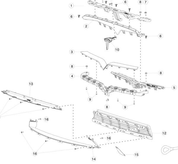 Заглушка крепления буксировочного крюка Tesla Model X