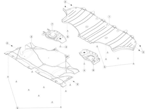 Защитный кожух заднего правого рычага под пружину Tesla MY